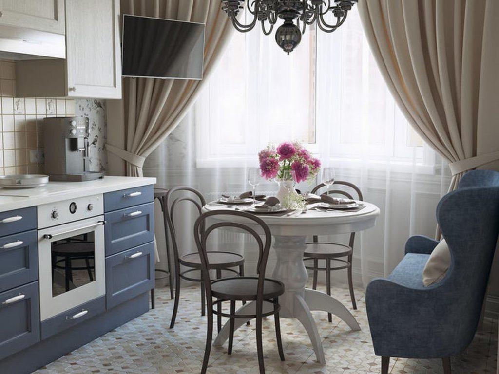 как выбрать цвет штор для кухни