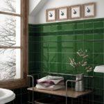 ярко-зеленая испанская плитка
