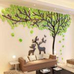 дерево и олени на стене