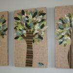 рисунок дерева на ткани