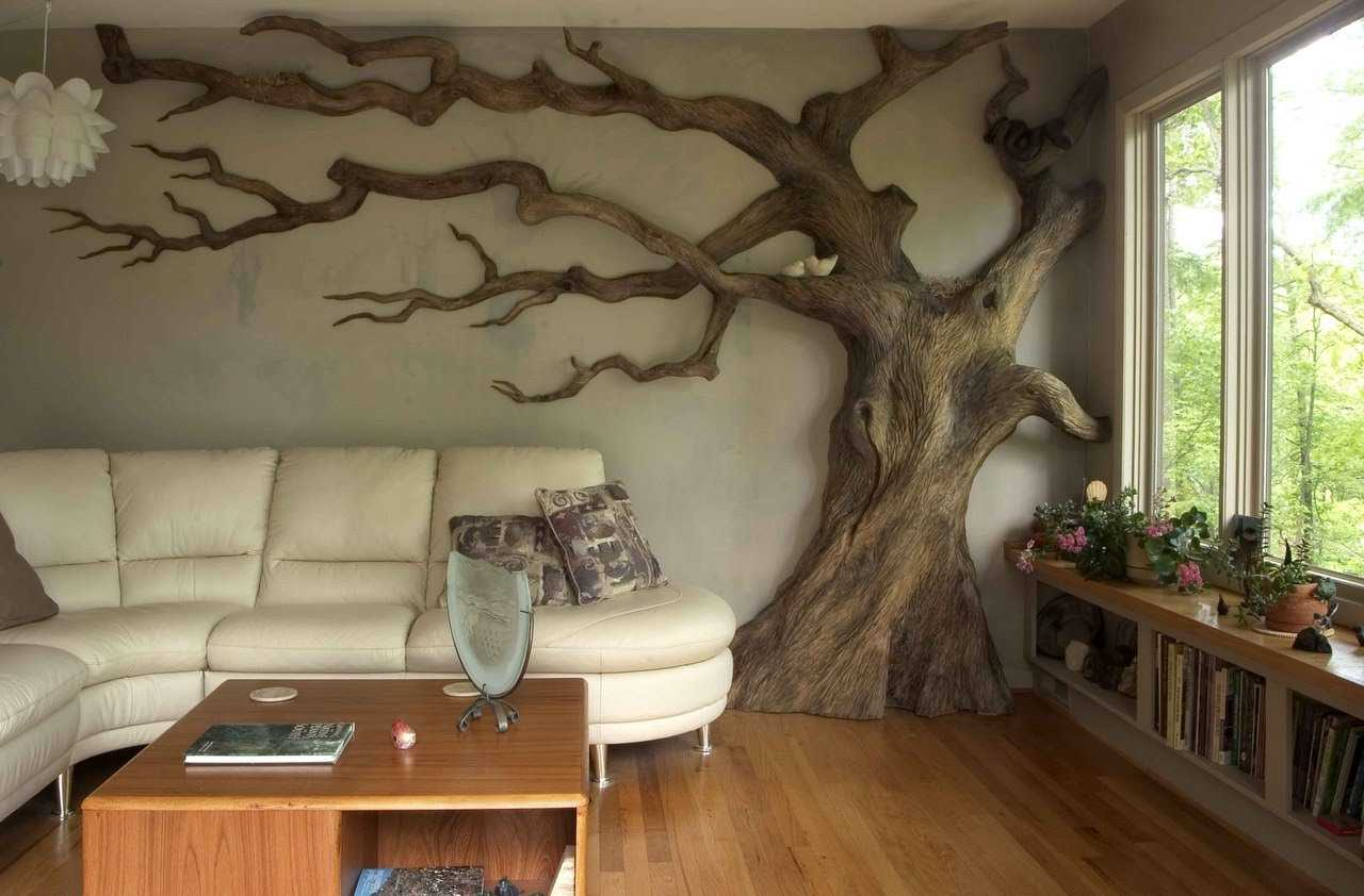 объемное дерево на стене