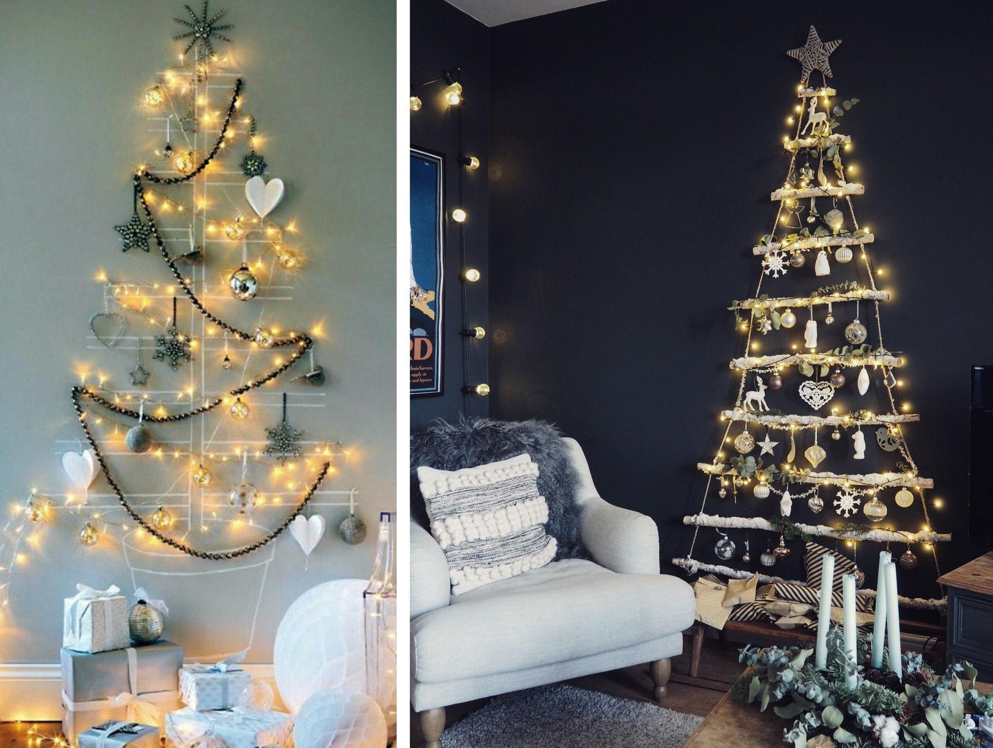 новый год в доме с деревом