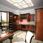 деревянная кухня арт-деко