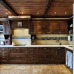 деревянная кухня из дуба