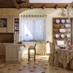 деревянная кухня прованс