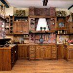 деревянная кухня ретро