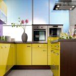 дизайнерская желтая кухня