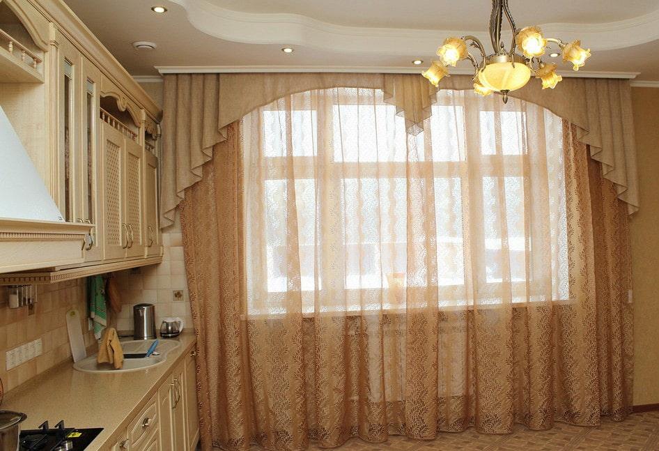 длинные варианты штор для кухни