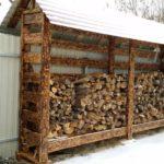 защита поленьев в дровянике от осадков