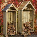 миниатюрные дровяники в виде небольших домиков