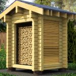 аккуратная конструкция для маленького дровяника