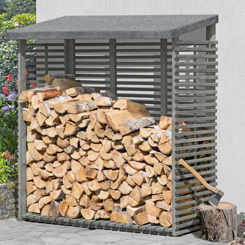 хорошая вентиляция дров в строении для поленьев