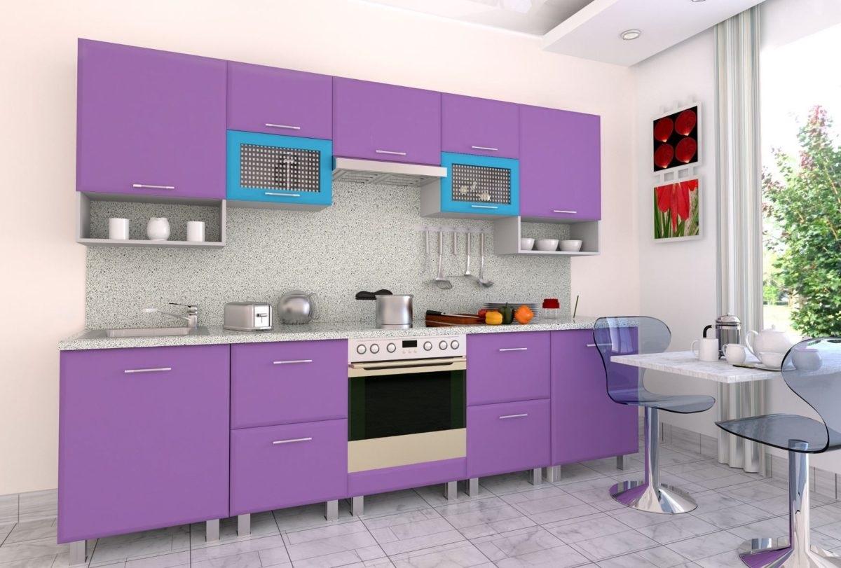 светлые отенки фиолетового на кухне