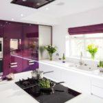 фиолетовая кухня большая