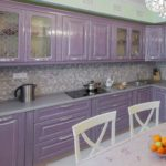 фиолетовая кухня лавандовая