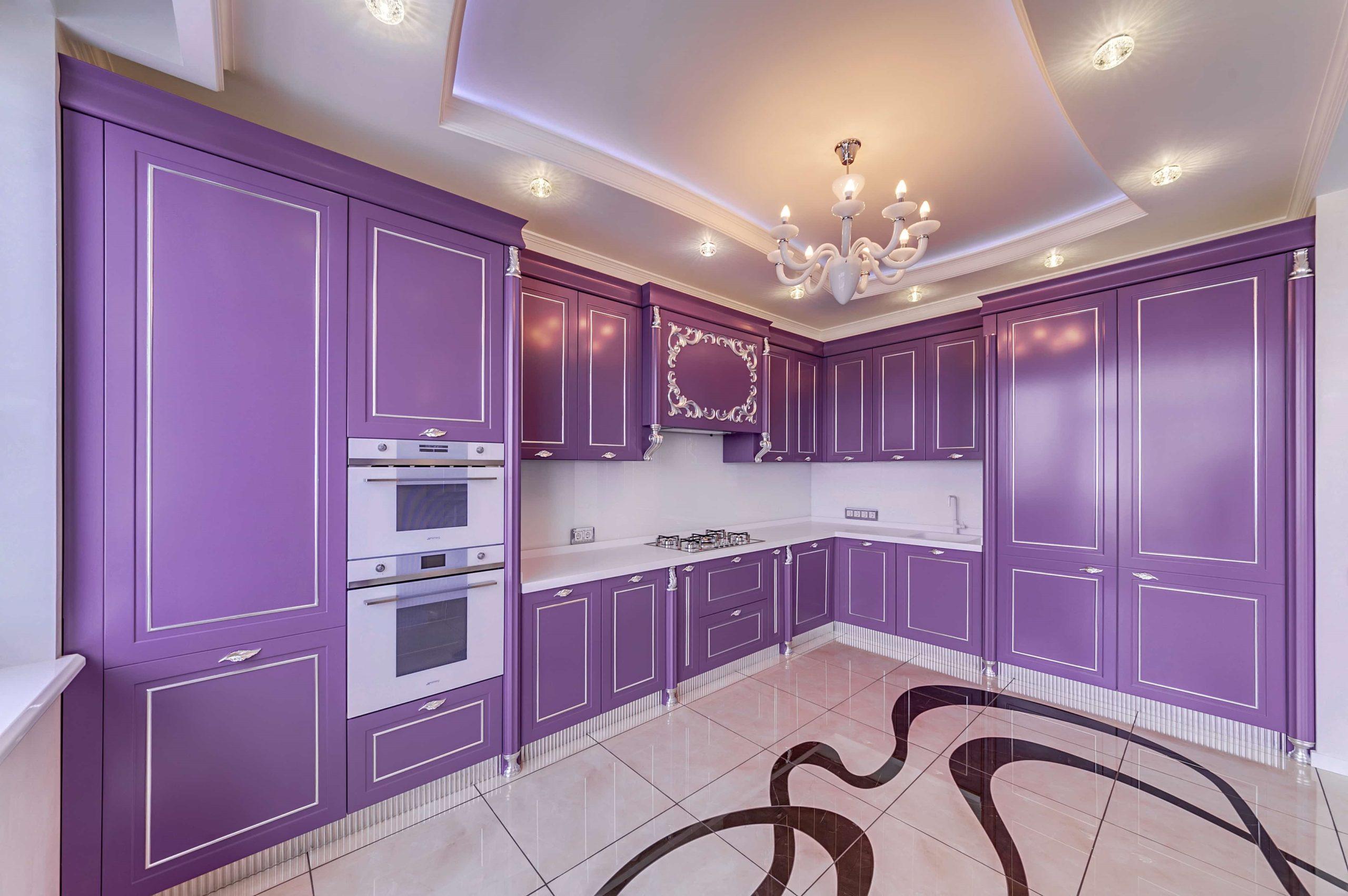 переизбыток фиолетового не кухне