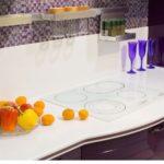 фиолетовая кухня столик