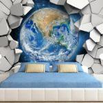 фотообои в спальню на тему космоса