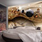 фотообои в спальню 3 Д с шарами