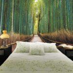 фотообои в спальню с бамбуком