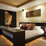 фотообои в спальню с гепардом