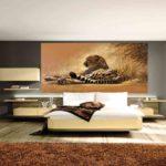 фотообои в спальню с леопардом
