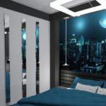фотообои в спальню с яркой луной