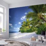 фотообои в спальню с пальмами