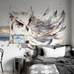 фотообои в спальню с совой