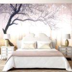фотообои в спальню с туманным лесом