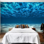 фотообои в спальню с морской водой