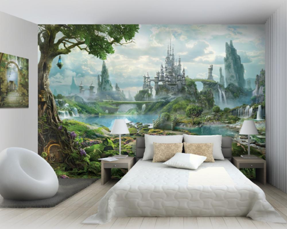 фотообои в спальню санкт петербург украшена