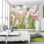изображение цветов на фотообоях для спальни