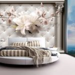 фотообои в спальню с орхидеями
