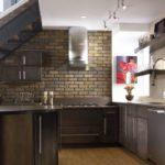 гипсовая плитка в кухне
