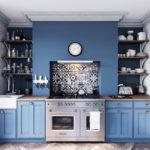маленькая голубая средиземноморская кухня