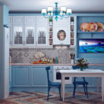 голубая кухня прованс