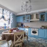 прованс голубая кухня