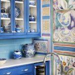 декор голубой кухни