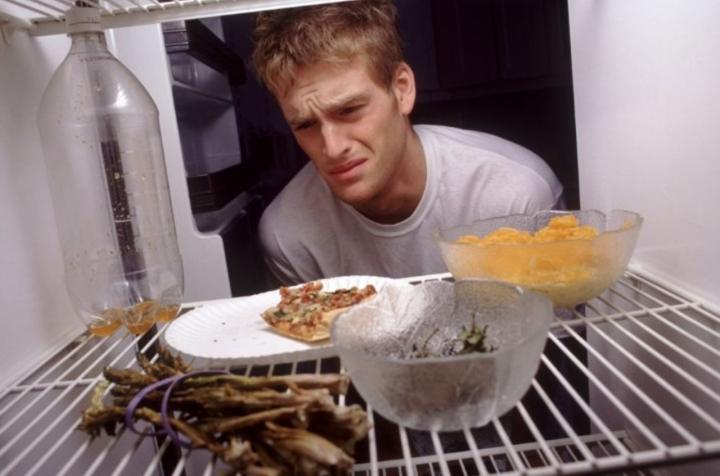 Источник запаха в холодильнике - испорченные продукты