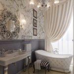 исторический стиль ванной с испанской плиткой