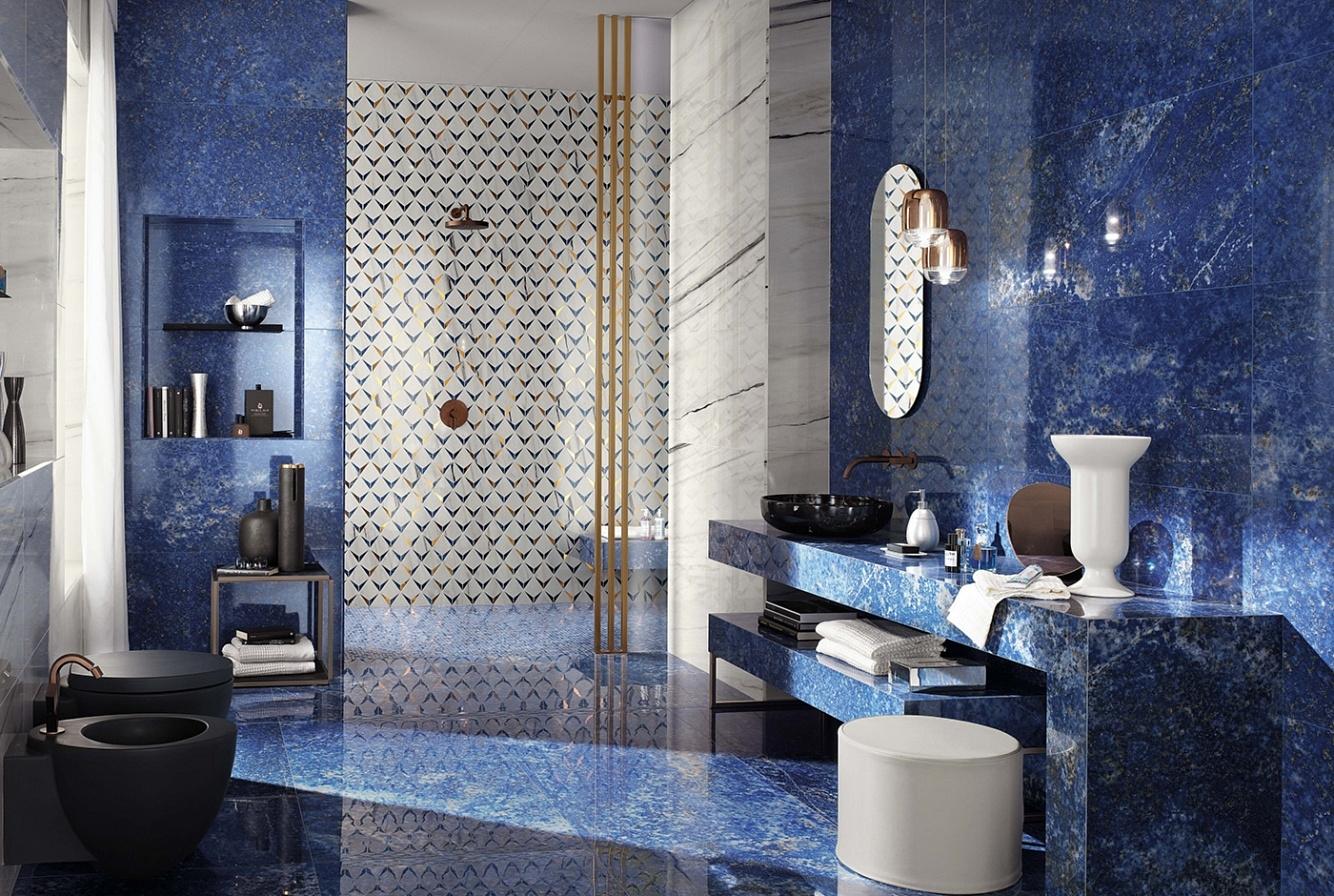 Ванная комната отделанная плиткой из Италии