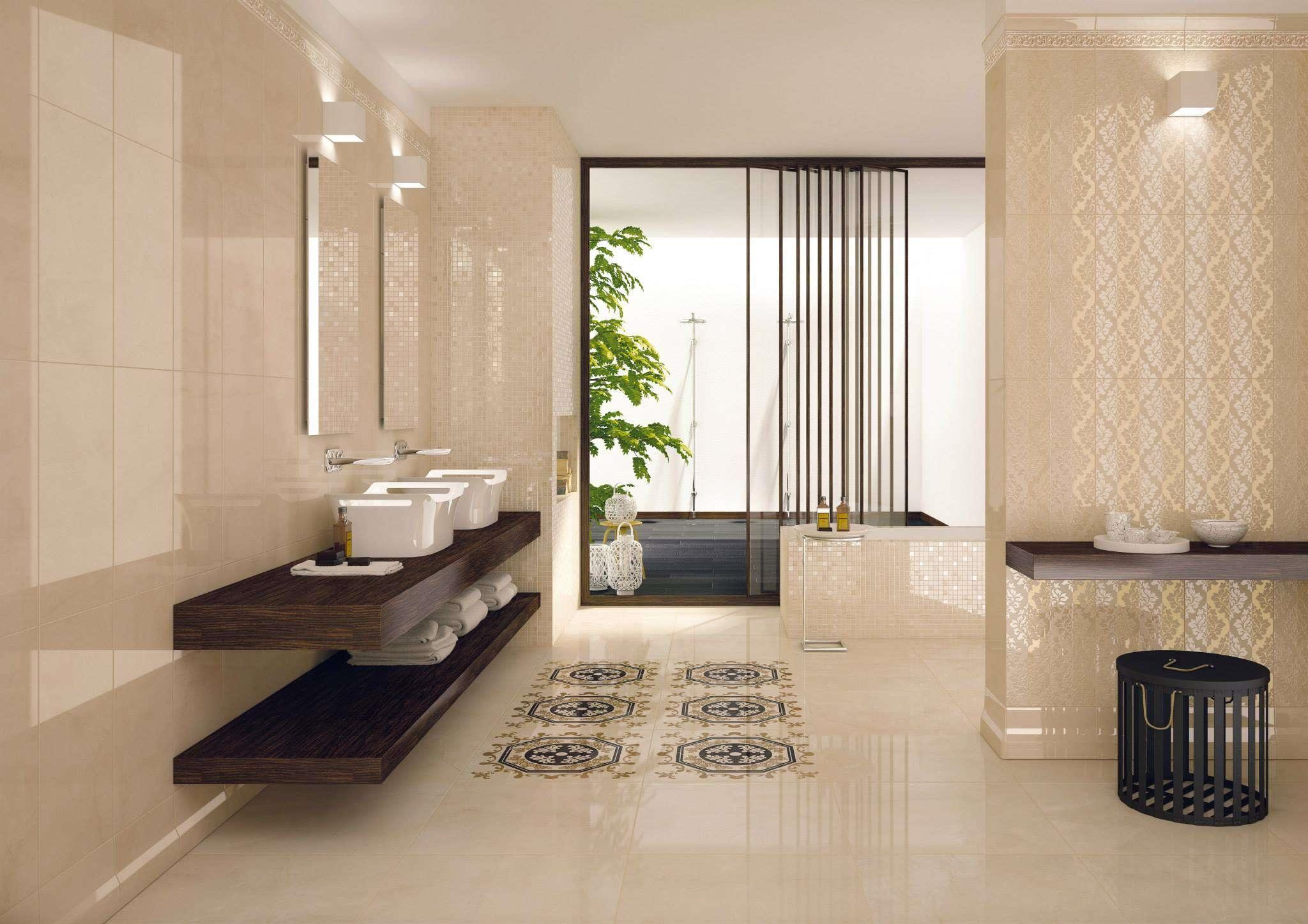 Дизайн комнаты кафелем из Италии