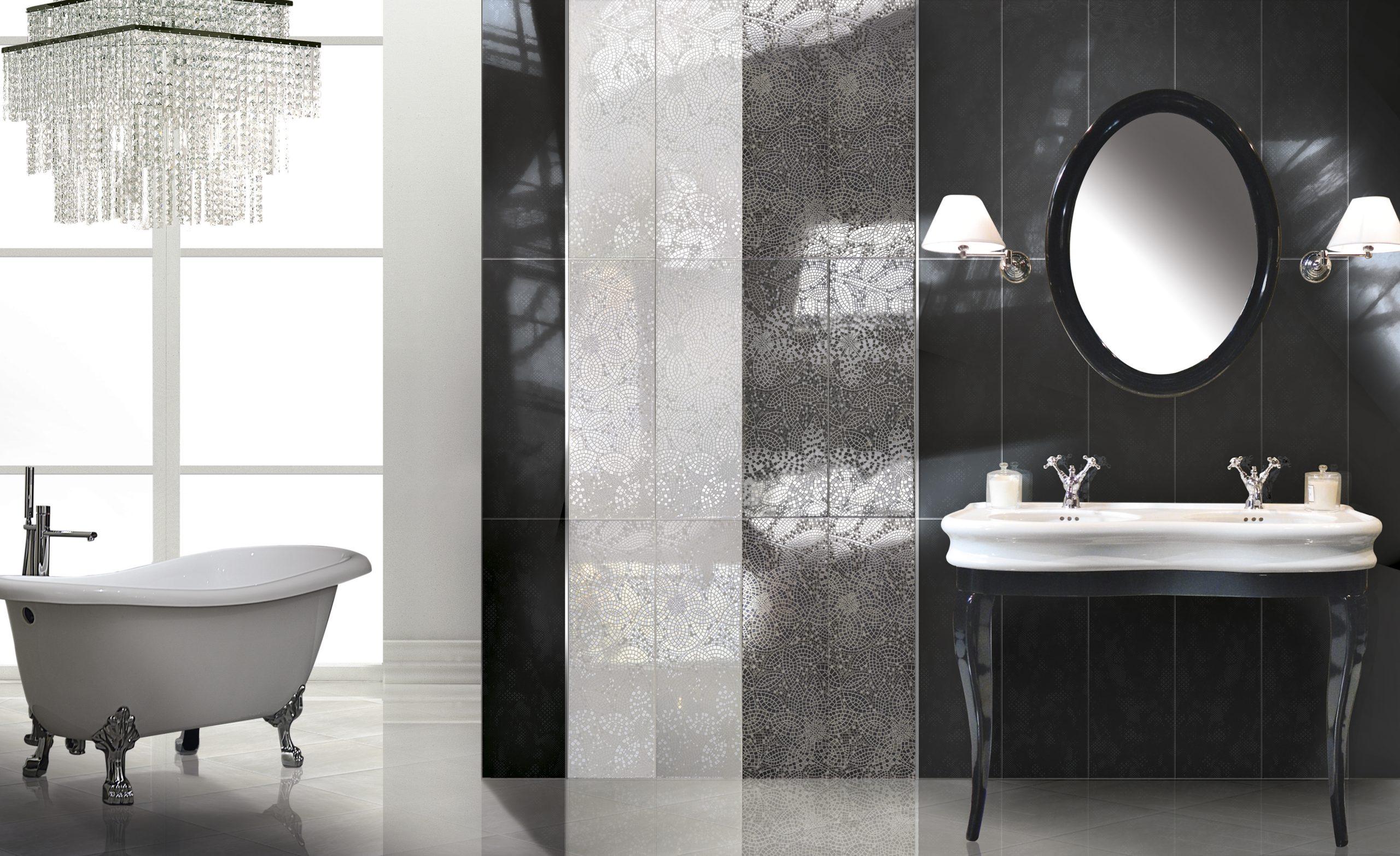 Итальянская плитка в ванной комнате