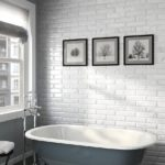 светлая плитка кабанчик в ванной