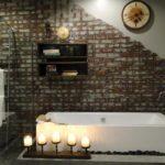 вариант плитки кабанчик в ванной
