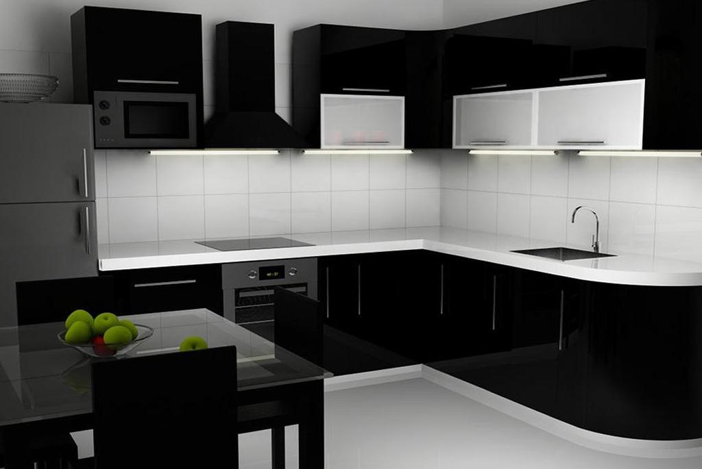 правила оформления кухни в черном варианте