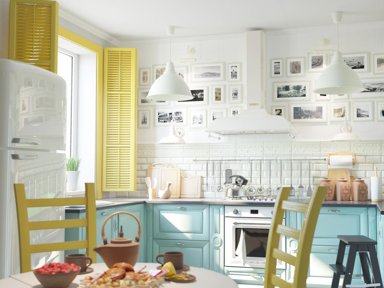 советы по оформлению кухни небольшого размера