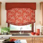 рулонная штора красного цвета