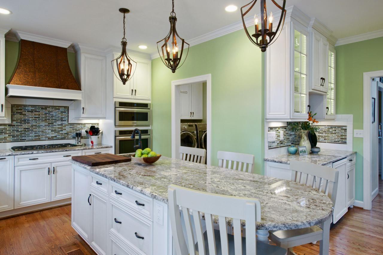как оформить стены в оливковом тоне на кухне